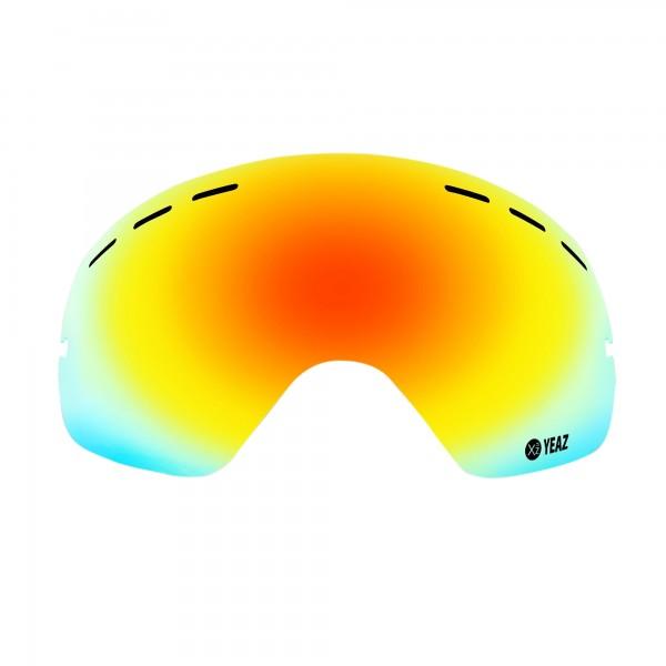 XTRM-SUMMIT Écran de remplacement pour masque de ski XTRM-SUMMIT avec monture rouge