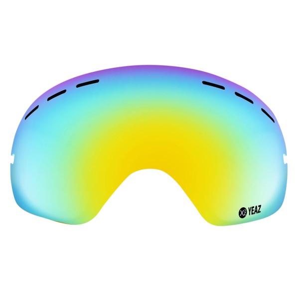 XTRM-SUMMIT Écran de remplacement pour masque de ski XTRM-SUMMIT avec monture jaune