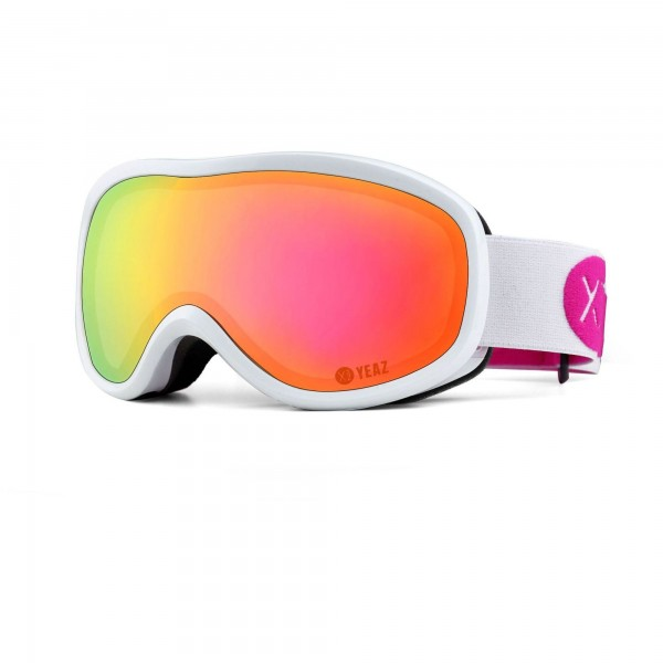 STEEZE ski and snowboard goggles pink/white